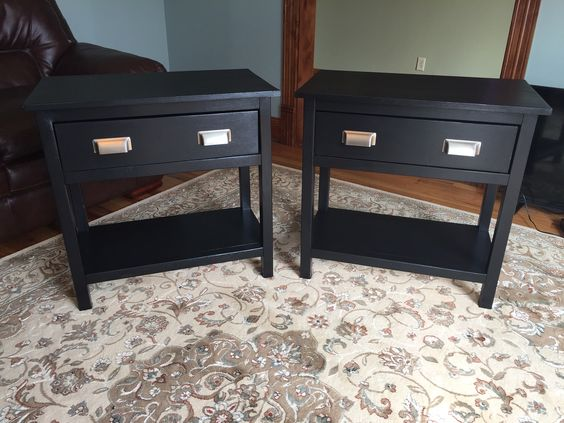 Bedside Table Projects 45 - DIY up-cycling project: How to make your own bedside tables