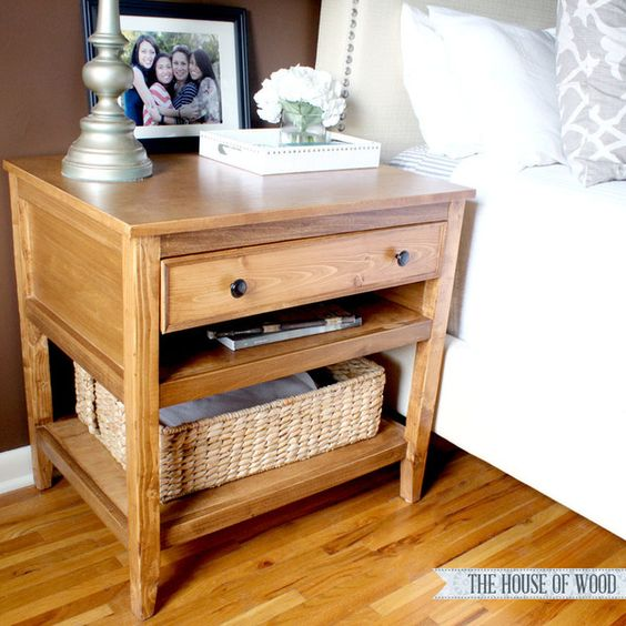 Bedside Table Projects 47 - DIY up-cycling project: How to make your own bedside tables