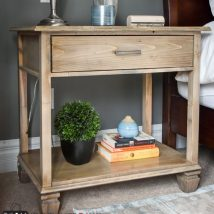 Bedside Table Projects 65 214x214 - DIY up-cycling project: How to make your own bedside tables