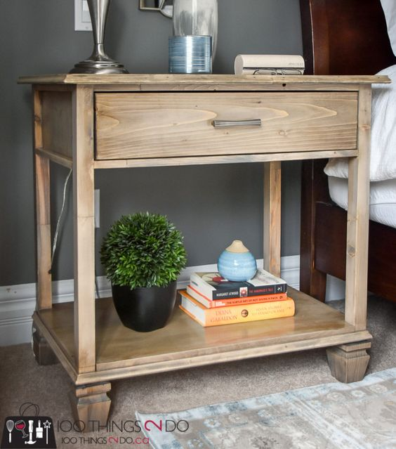 Bedside Table Projects 65 - DIY up-cycling project: How to make your own bedside tables