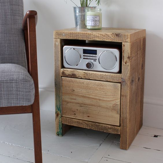 Bedside Table Projects 74 - DIY up-cycling project: How to make your own bedside tables