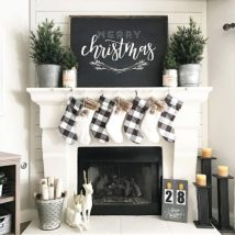 Christmas Fireplaces Decor 1 214x214 - Fireplace Mantel Décor Styles for the Christmas Season