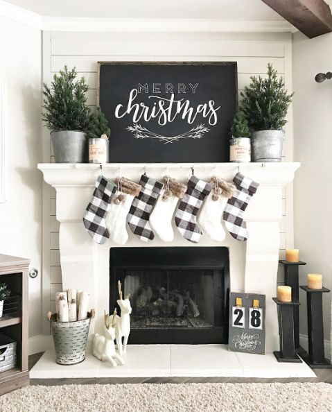 Christmas Fireplaces Decor 1 - Fireplace Mantel Décor Styles For The Christmas Season