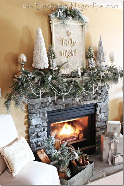 Christmas Fireplaces Decor 10 - Fireplace Mantel Décor Styles For The Christmas Season