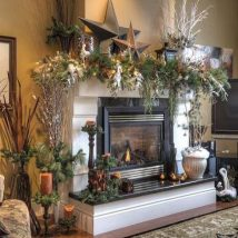 Christmas Fireplaces Decor 20 214x214 - Fireplace Mantel Décor Styles for the Christmas Season