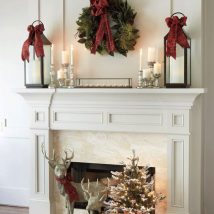 Christmas Fireplaces Decor 30 214x214 - Fireplace Mantel Décor Styles for the Christmas Season