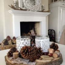 Christmas Fireplaces Decor 41 214x214 - Fireplace Mantel Décor Styles for the Christmas Season