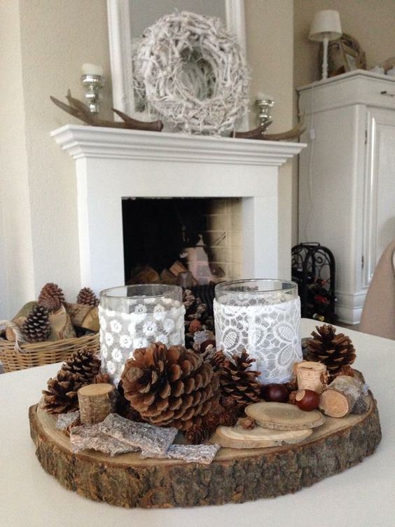 Christmas Fireplaces Decor 41 - Fireplace Mantel Décor Styles For The Christmas Season
