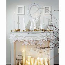 Christmas Fireplaces Decor 44 214x214 - Fireplace Mantel Décor Styles for the Christmas Season