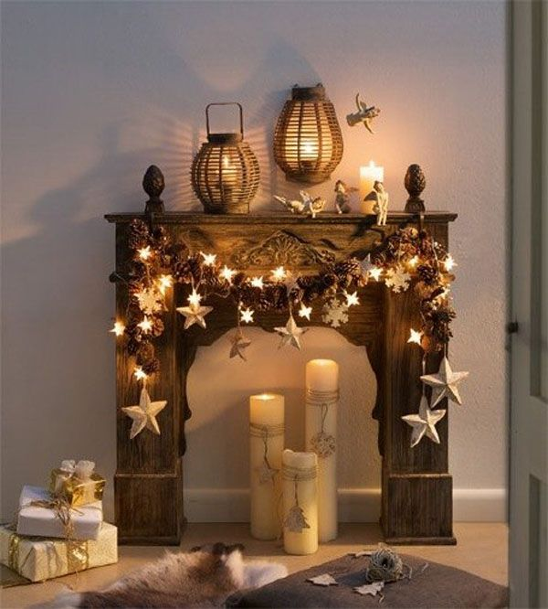 Christmas Fireplaces Decor 47 - Fireplace Mantel Décor Styles For The Christmas Season