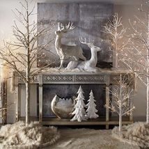 Christmas Fireplaces Decor 50 214x214 - Fireplace Mantel Décor Styles for the Christmas Season
