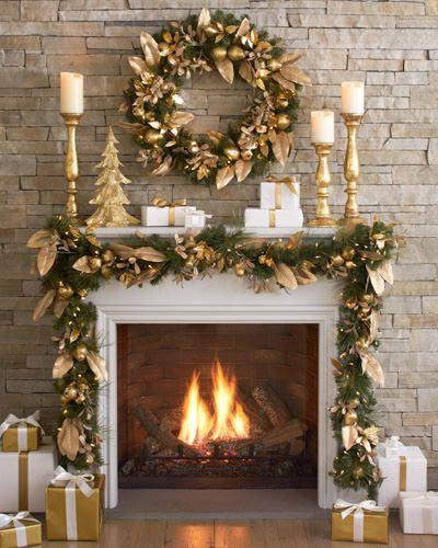 Christmas Fireplaces Decor 52 - Fireplace Mantel Décor Styles For The Christmas Season