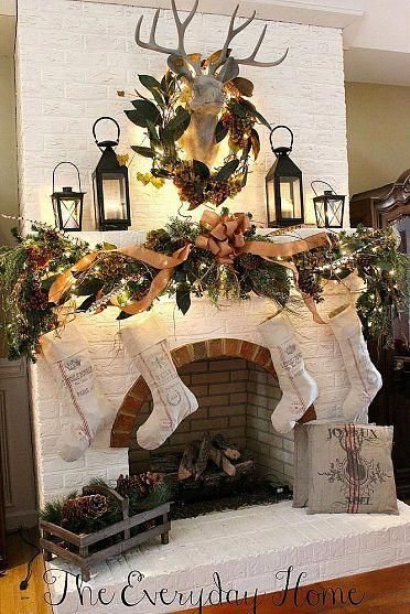 Christmas Fireplaces Decor 8 - Fireplace Mantel Décor Styles For The Christmas Season