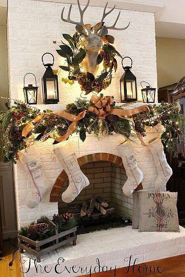 Christmas Fireplaces Decor 9 - Fireplace Mantel Décor Styles For The Christmas Season