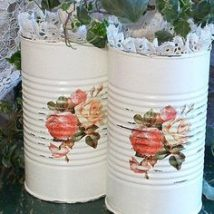 Decoupage Tin Can Planters 11 214x214 - Amazing ideas to Decoupage Tin Can Planters
