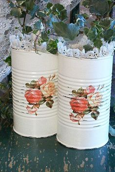 Decoupage Tin Can Planters 11 - Amazing Ideas To Decoupage Tin Can Planters