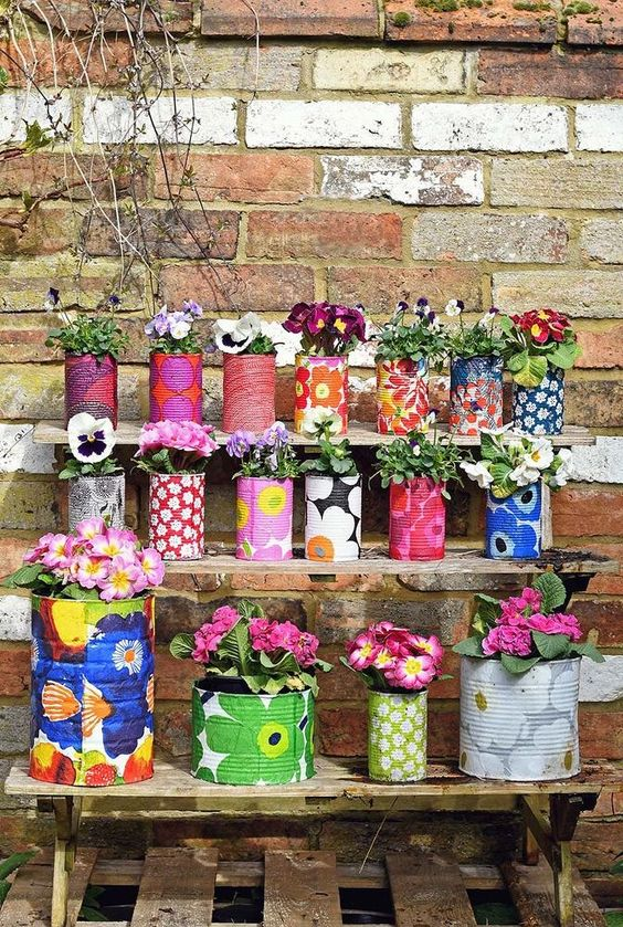 Decoupage Tin Can Planters 13 - Amazing Ideas To Decoupage Tin Can Planters
