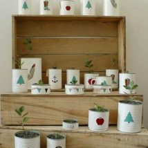 Decoupage Tin Can Planters 14 214x214 - Amazing ideas to Decoupage Tin Can Planters