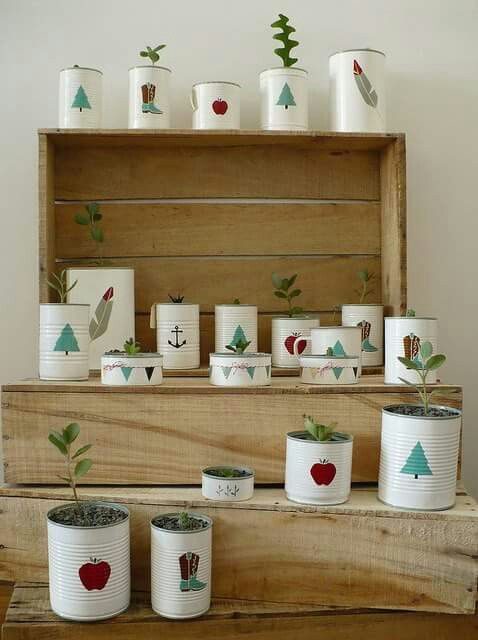 Decoupage Tin Can Planters 14 - Amazing Ideas To Decoupage Tin Can Planters
