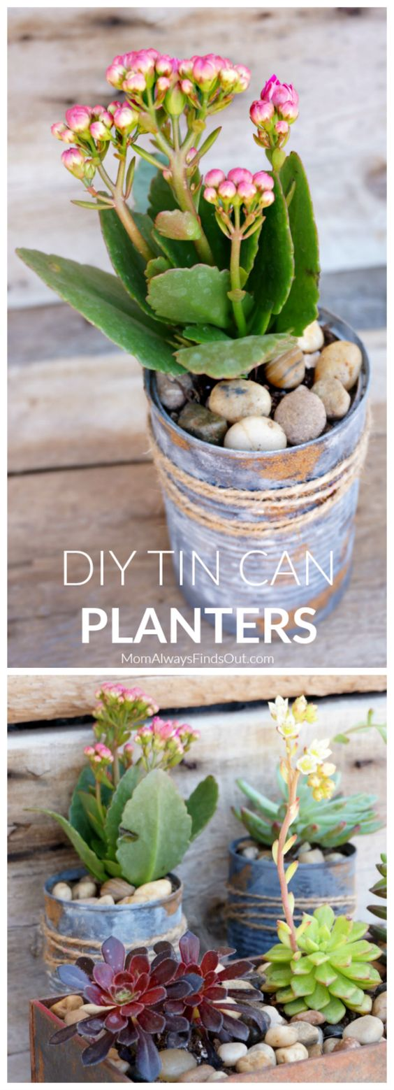 Decoupage Tin Can Planters 16 - Amazing Ideas To Decoupage Tin Can Planters