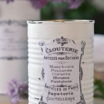 Decoupage Tin Can Planters 18 214x214 - Amazing ideas to Decoupage Tin Can Planters