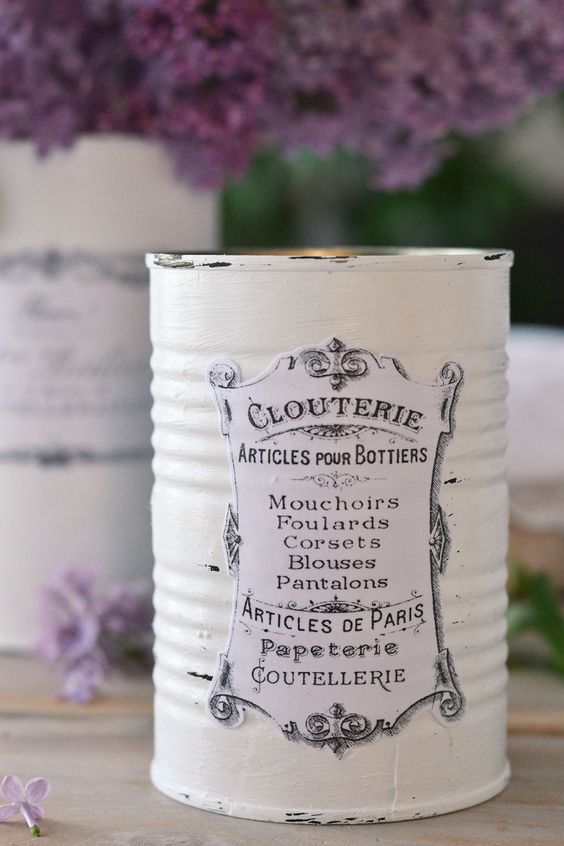 Decoupage Tin Can Planters 18 - Amazing Ideas To Decoupage Tin Can Planters