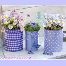 Decoupage Tin Can Planters 19 214x214 - Amazing ideas to Decoupage Tin Can Planters
