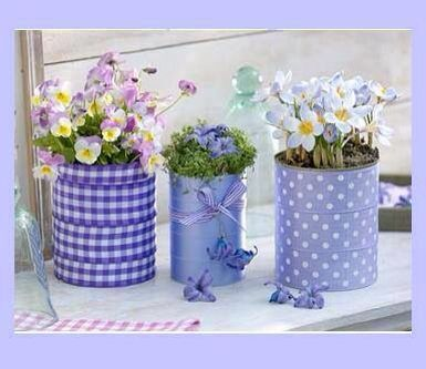 Decoupage Tin Can Planters 19 - Amazing Ideas To Decoupage Tin Can Planters