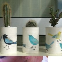 Decoupage Tin Can Planters 24 214x214 - Amazing ideas to Decoupage Tin Can Planters