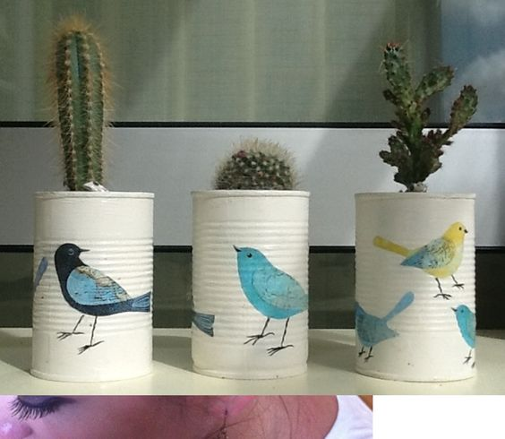 Decoupage Tin Can Planters 24 - Amazing Ideas To Decoupage Tin Can Planters