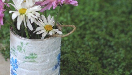 Decoupage Tin Can Planters 25 - Amazing Ideas To Decoupage Tin Can Planters