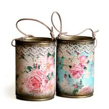 Decoupage Tin Can Planters 27 214x214 - Amazing ideas to Decoupage Tin Can Planters