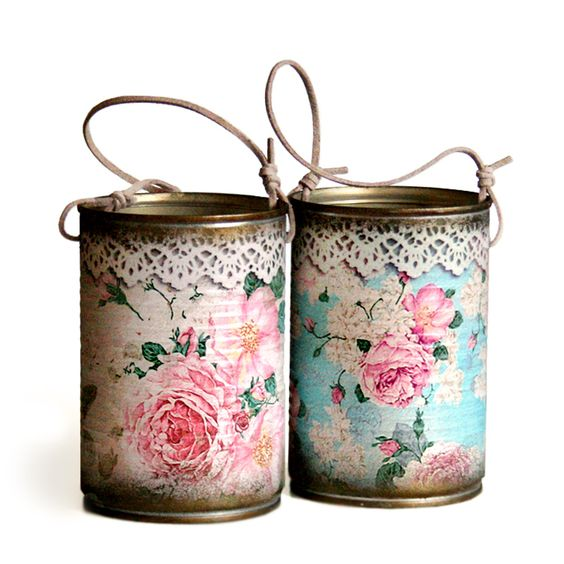 Decoupage Tin Can Planters 27 - Amazing Ideas To Decoupage Tin Can Planters