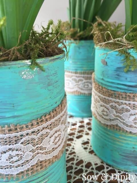 Decoupage Tin Can Planters 28 - Amazing Ideas To Decoupage Tin Can Planters