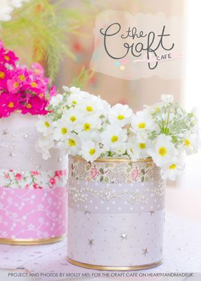 Decoupage Tin Can Planters 29 - Amazing Ideas To Decoupage Tin Can Planters