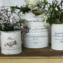 Decoupage Tin Can Planters 31 214x214 - Amazing ideas to Decoupage Tin Can Planters