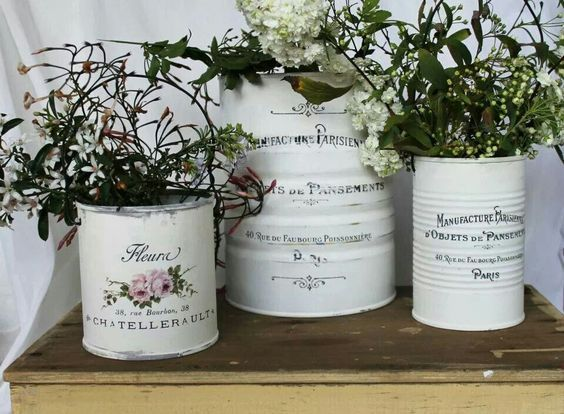 Decoupage Tin Can Planters 31 - Amazing Ideas To Decoupage Tin Can Planters