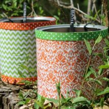 Decoupage Tin Can Planters 33 214x214 - Amazing ideas to Decoupage Tin Can Planters