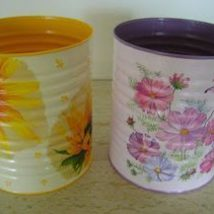 Decoupage Tin Can Planters 37 214x214 - Amazing ideas to Decoupage Tin Can Planters