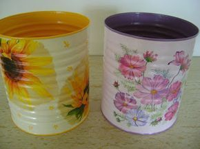 Decoupage Tin Can Planters 37 - Amazing Ideas To Decoupage Tin Can Planters
