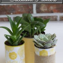Decoupage Tin Can Planters 38 214x214 - Amazing ideas to Decoupage Tin Can Planters