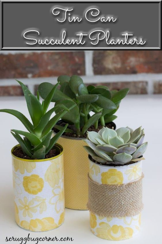 Decoupage Tin Can Planters 38 - Amazing Ideas To Decoupage Tin Can Planters