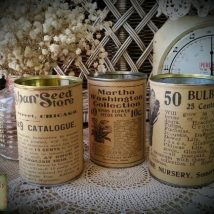Decoupage Tin Can Planters 41 214x214 - Amazing ideas to Decoupage Tin Can Planters