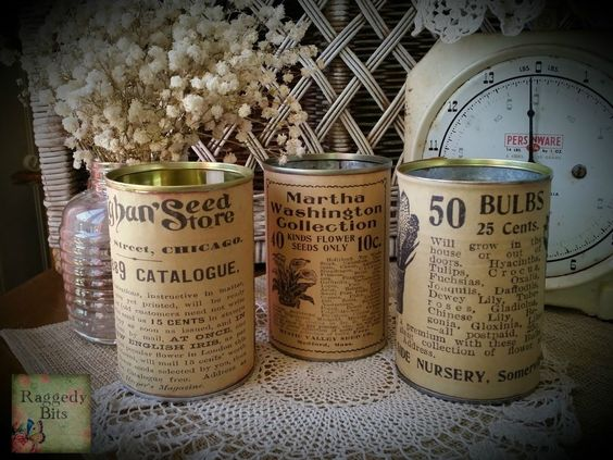 Decoupage Tin Can Planters 41 - Amazing Ideas To Decoupage Tin Can Planters