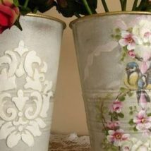 Decoupage Tin Can Planters 42 214x214 - Amazing ideas to Decoupage Tin Can Planters