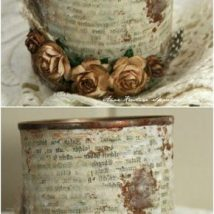 Decoupage Tin Can Planters 43 214x214 - Amazing ideas to Decoupage Tin Can Planters
