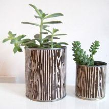 Decoupage Tin Can Planters 44 214x214 - Amazing ideas to Decoupage Tin Can Planters