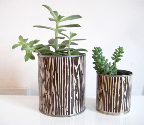 Decoupage Tin Can Planters 44 - Amazing Ideas To Decoupage Tin Can Planters