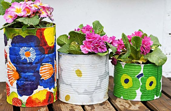 Decoupage Tin Can Planters 45 - Amazing Ideas To Decoupage Tin Can Planters