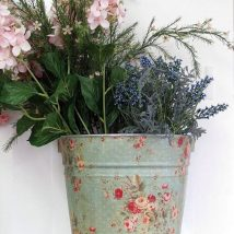 Decoupage Tin Can Planters 5 214x214 - Amazing ideas to Decoupage Tin Can Planters